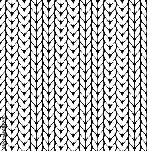 Fototapeten Künstlich Knitting vector pattern. Vector texture seamless pattern. White knit texture seamless pattern. Vector seamless background.