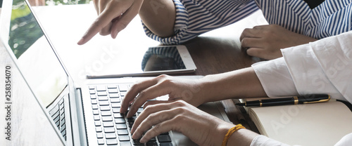 people working on computor for marketing online search Tablou Canvas
