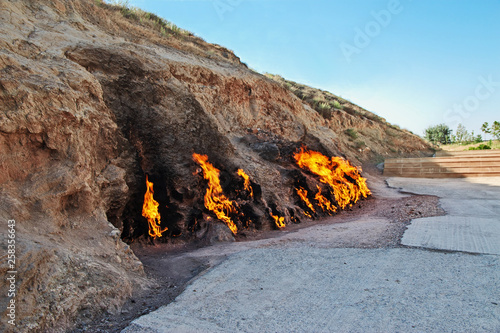 Photo Yanar Dag, Fire, Baku, Azerbaijan