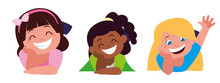 Happy Little Interracial Girls...
