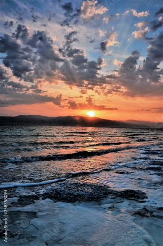 Fototapety, obrazy: A crazy sunset in Israel Views of the Holy Land
