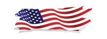 Grunge And Torn Waving American Flag Illustration Vector For Independence Day 4th July