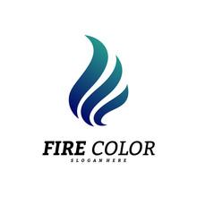 Fire Logo Design Concepts. Flame Logo Template Vector. Icon Symbol