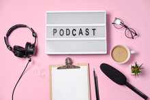 Music Or Podcast Background Wi...