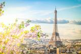 Fototapeta Fototapety Paryż - eiffel tour and Paris cityscape