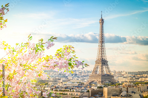 Photo  eiffel tour and Paris cityscape