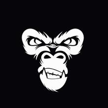 Gorilla Head Vector Illustration
