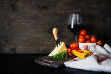 Włoskie składniki makaronu