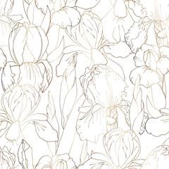 iris contour seamless pattern