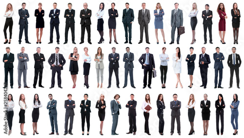 Fotografía  collage of a variety of business people standing in a row
