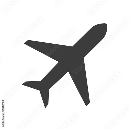 Photo plane vector icon in modern flat style isolated