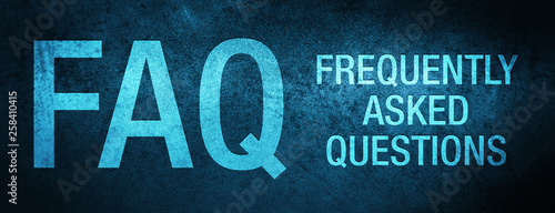 FAQ frequently asked questions special blue banner background Wallpaper Mural