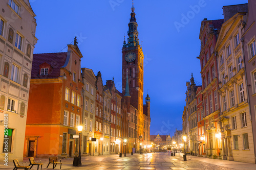 Fototapety, obrazy: Architecture of the old town in Gdansk at dawn, Poland