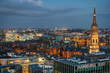 Germany, Hamburg, Old Warehouse District and St. Jacob's Church