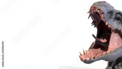 Photo  animal, indominus rex of backgorund, 3d render
