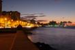 The Havana seaside skyline illuminated at night