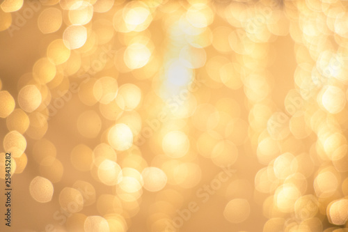 Fotografía  upscale high end, golden, christmas holiday backdrop blurry lights