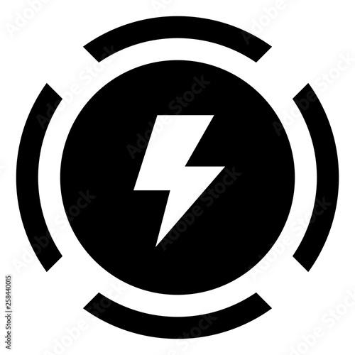 Photo Shock Lightning Voltage Warning Icon