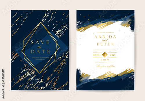 Fényképezés  Wedding Invitation, Thank you card, rsvp, posters design collection