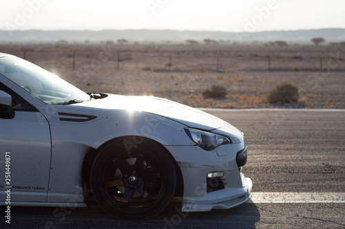 фотография Cars on the race track and on the roads of the desert