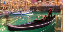 Las Vegas River Gondolas At Ni...