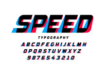 Speed Style Font, Alphabet Let...