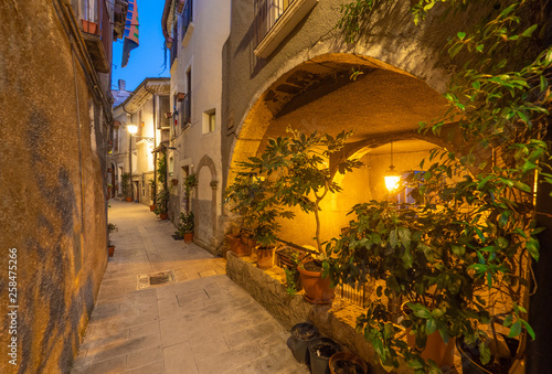 Pacentro (Italy) - A little medieval town with old towers beside Sulmona city, province of L'Aquila, Abruzzo region. Here a view of historical center.