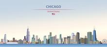 Vector Illustration Of Chicago...