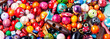 canvas print picture - Beads or colorful beads