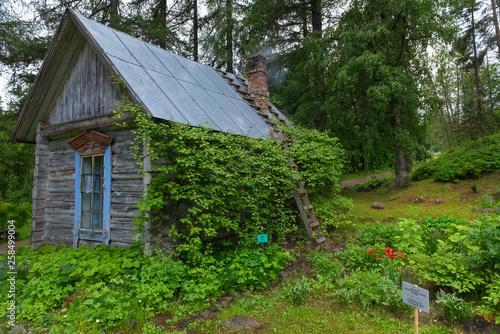SOLOVKI, REPUBLIC OF KARELIA, RUSSIA - JUNE 27, 2018: Former commandant building in the Botanical garden on Solovki Fotobehang