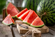 canvas print picture - Tasty and fresh watermelon in sunny day