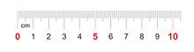 Grid For A Ruler Of 100 Millimeters, 10 Centimeters. Calibration Grid. Value Division 1 Mm. Precise Length Measurement Device.