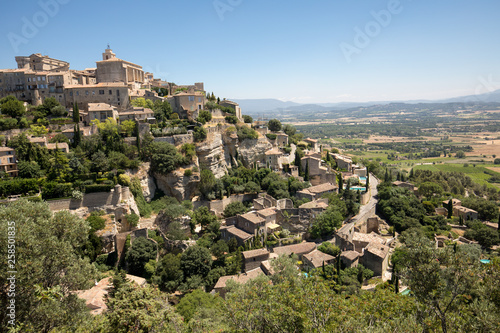 Valokuvatapetti Medieval hilltop town of Gordes. Provence. France.