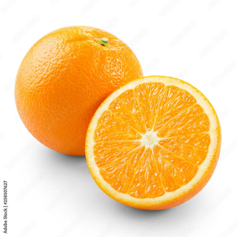Fototapety, obrazy: Orange with half
