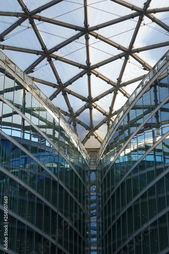 Aluminium Prints Train Station metal-glass architectural structure