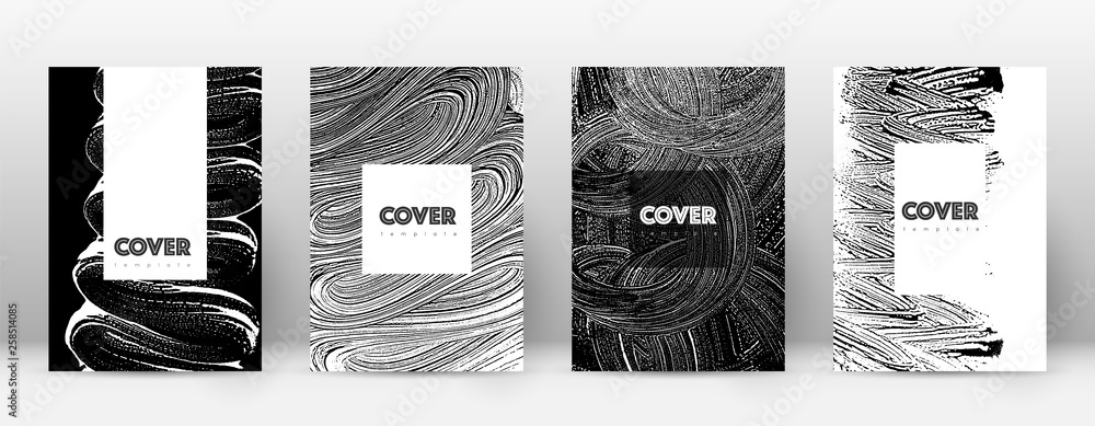 Fototapeta Cover page design template. Hipster brochure layou