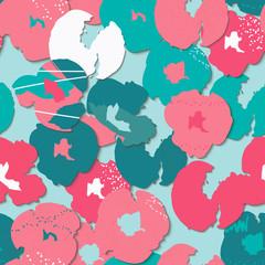 Vector floral seamless patt...