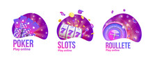 Casino Objects Logo Place For Text