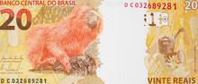 Brazil 20 Real Note. Brazilian Money, Currency, Economy..