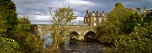 Old Bushmills Village, Bridge And River, Northern Ireland, Autumn