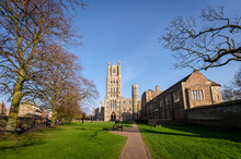 Pathway To Ely Cathedral In Cambridgeshire, UK