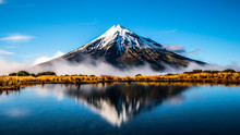 Mirror Lake Mount Taranaki New...