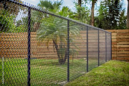 Black Chain Link Fence Poster Mural XXL