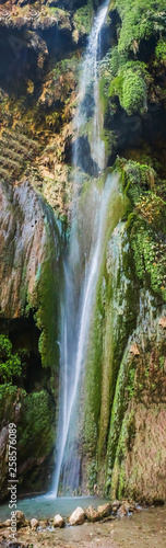 Full Vertical   View of Patna  waterfall in RIshikesh India