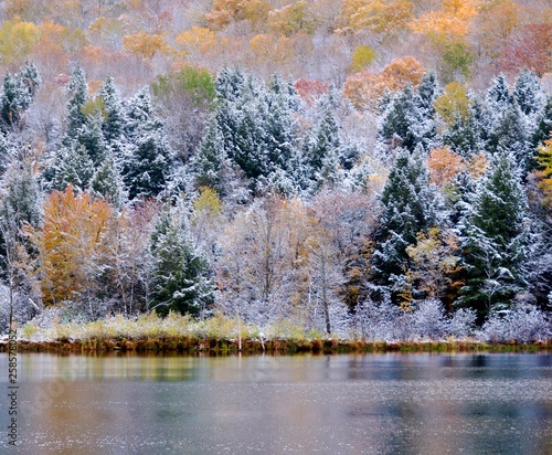 Late fall landscape Quebec province Canada