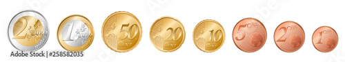 Fotografia  set of all euro coins