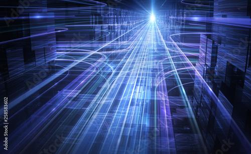 Valokuva  Datenverkehr | Ströme in komplexem Netzwerk - Version 2