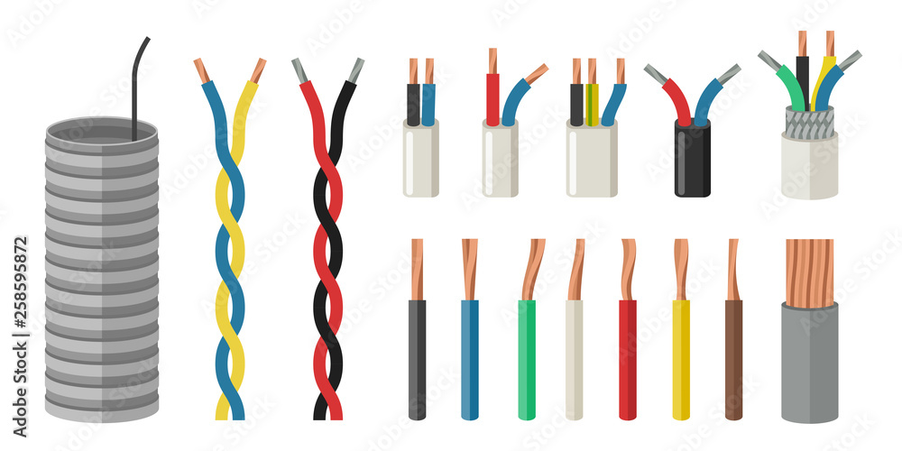Fototapety, obrazy: Electrical cables