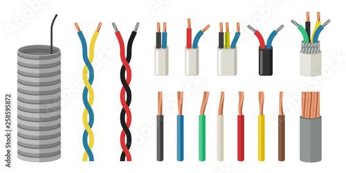 Electrical cables Billede på lærred