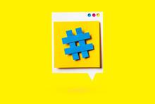 Paper Cutout Of Hashtag Symbol...